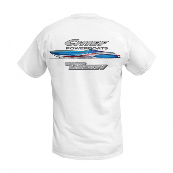 Chief Powerboats - Chief Powerboats 43 Punisher Short Sleeve Performance Graphic T-Shirt