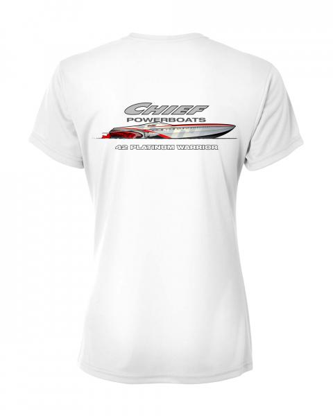 Chief Powerboats Ladies 42 Platinum Short Sleeve Performance Graphic T-Shirt