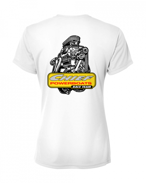 Chief Powerboats - Chief Powerboats Ladies PSI Blower Race Team Short Sleeve Graphic T-Shirt