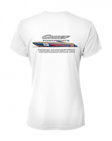 Chief Powerboats - Chief Powerboats Ladies Warpath Short Sleeve Performance Graphic T-Shirt