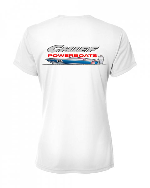 Chief Powerboats - Chief Powerboats Ladies 21 Scout Short Sleeve Performance Graphic T-Shirt