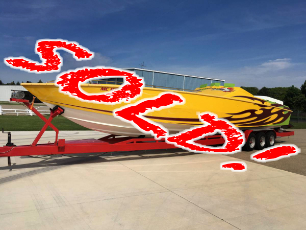 CPB - 1989 41 Apache 3 Pack Race Boat RARE!