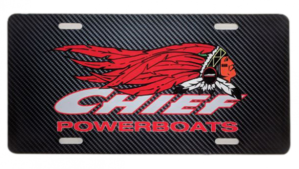 Chief Powerboats - Chief Powerboats Carbon Fiber License Plate