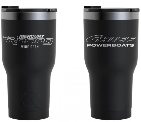 Chief Powerboats - Chief Powerboats RTIC 30oz Black Tumbler Dual Logo
