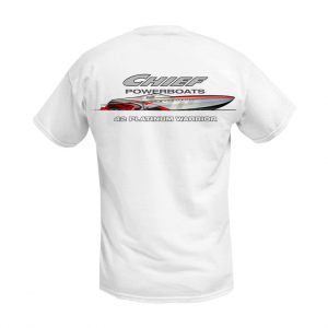 Apparel - Mens - Chief Powerboats - Chief Powerboats 42 Platinum Short Sleeve Performance Graphic T-Shirt