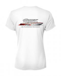 Merch - Chief Powerboats Ladies 42 Platinum Short Sleeve Performance Graphic T-Shirt