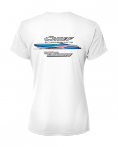 Merch - Chief Powerboats Ladies 43 Punisher Short Sleeve Performance Graphic T-Shirt