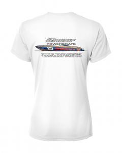 Merch - Chief Powerboats Ladies Warpath Short Sleeve Performance Graphic T-Shirt