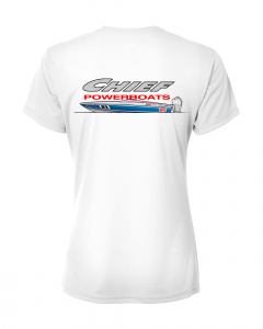 Merch - Chief Powerboats Ladies 21 Scout Short Sleeve Performance Graphic T-Shirt