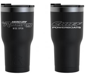 Chief Powerboats RTIC 30oz Black Tumbler Dual Logo