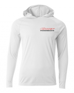 Chief Powerboats - Chief Powerboats Warpath Long Sleeve Performance Cooling Hooded Tee Graphic Shirt - Image 2
